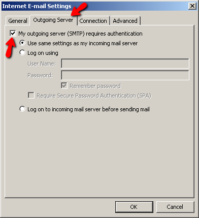 File:Outlook 2007 outgoing server require authentication.png